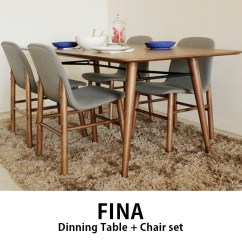 Cheap Table Chairs Chair Cover Hire Scotland Sugartime Toma Fina 180 Dining 4 Set Stylish Retro Modern Nordic Four Seat Cafe Wooden Interior Store