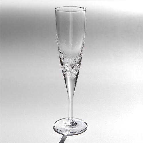 【楽天市場】スガハラグラス3type of bubbles3種の泡 フルート:surou web shop