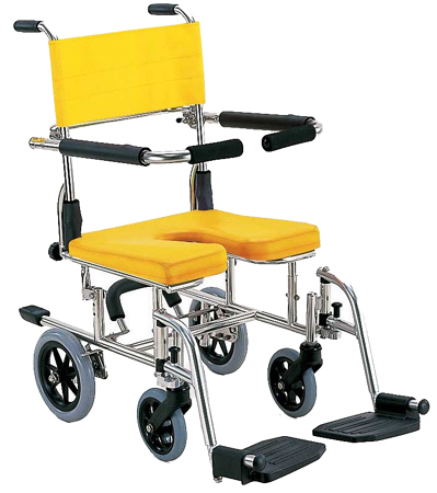 yellow wheelchair ghost clear chair therapy shop kawamura cycles for shower seat surface height adjustable ks10 frame color silver sheet