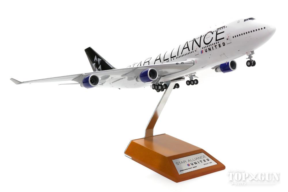 【楽天市場】ボーイング 747-400 ユナイテッド航空 特別塗裝 「スターアライアンス」 2010年代 N121UA (スタンド ...