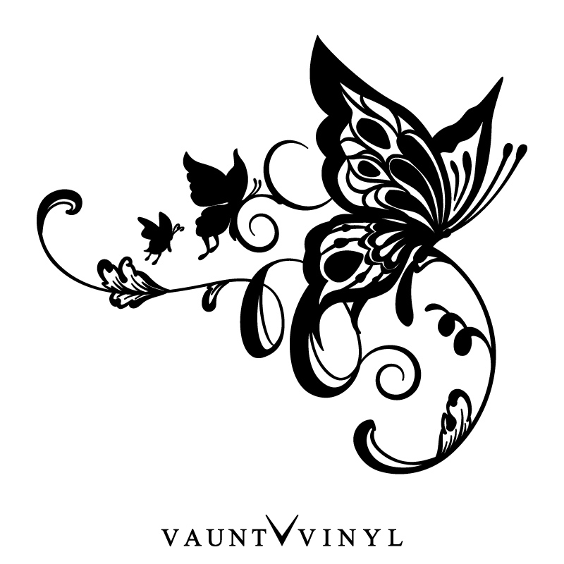 VAUNT VINYL sticker store: Pretty right and left set