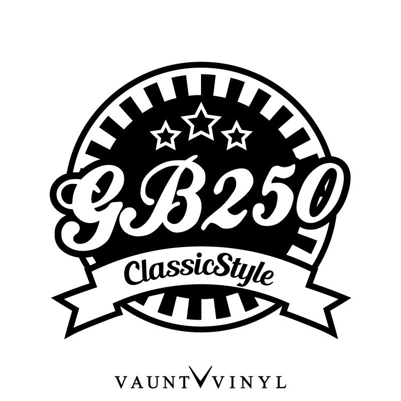 VAUNT VINYL sticker store: GB250 ClassicStyle cutting
