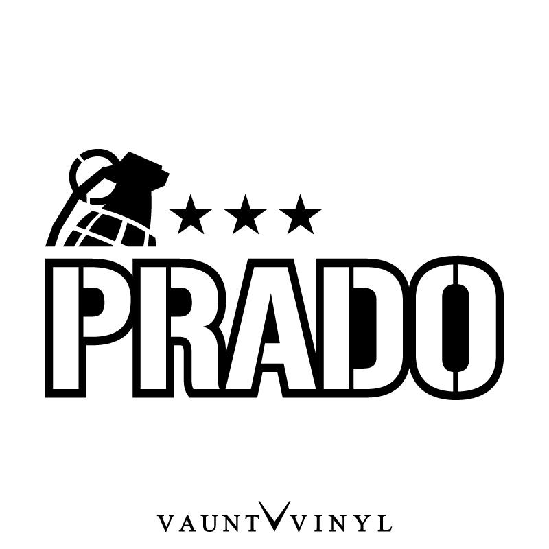 VAUNT VINYL sticker store: Military PRADO Prado cutting