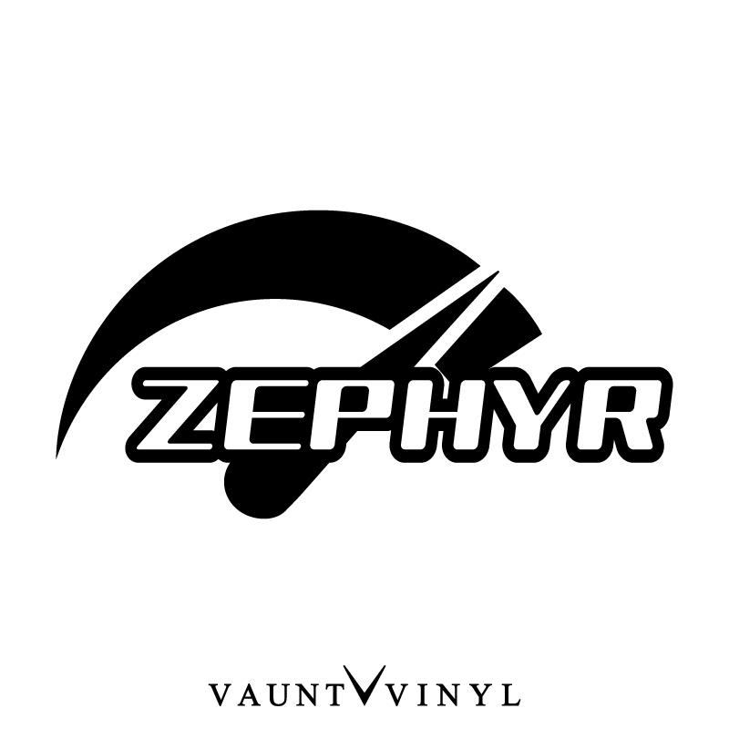 VAUNT VINYL sticker store: Speed ZEPHYR Zephyr sticker