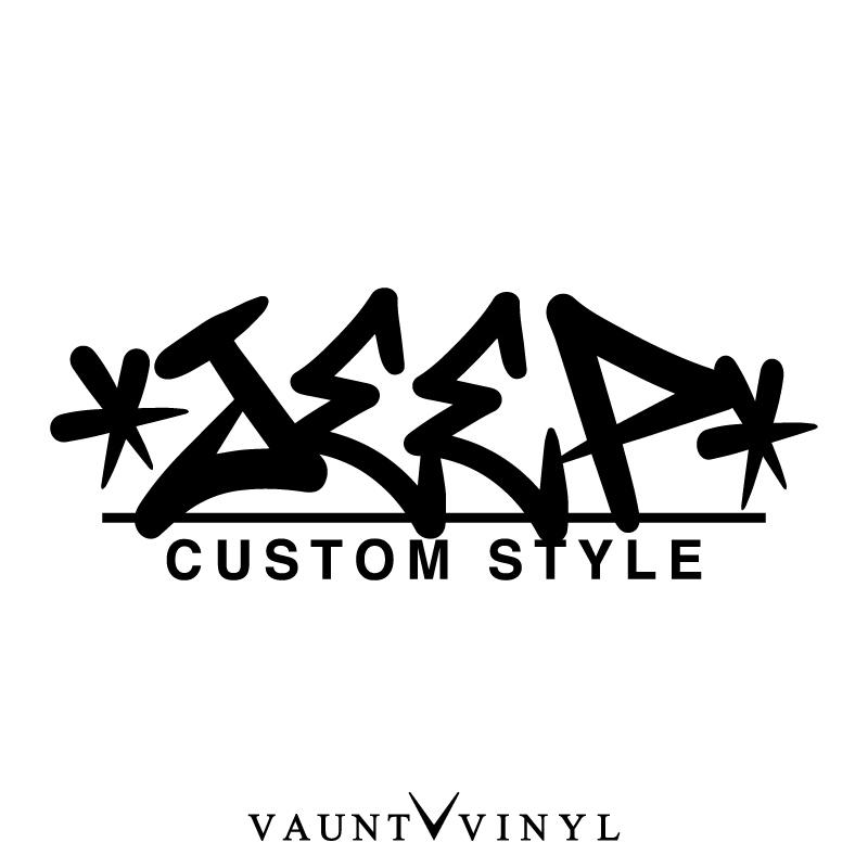 VAUNT VINYL sticker store: Jeep CUSTOM STYLE cutting