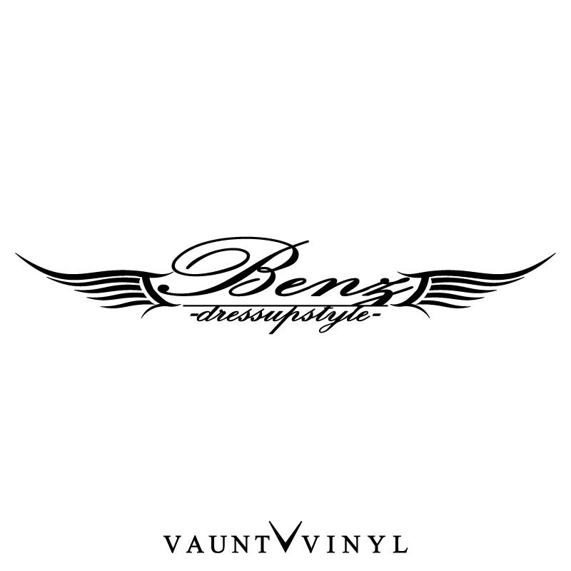 VAUNT VINYL sticker store: Wing Mercedes-Benz sticker