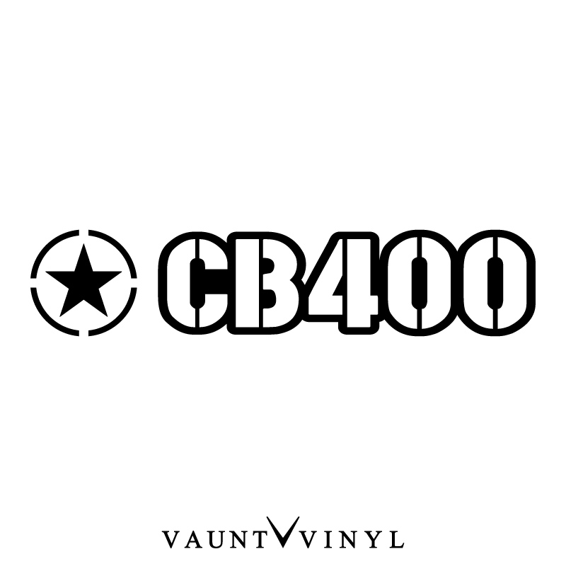 VAUNT VINYL sticker store: Military CB400 sticker CB400