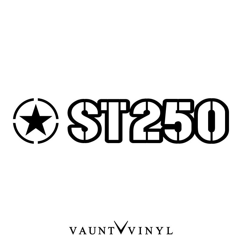 VAUNT VINYL sticker store: Military ST250 sticker ST250