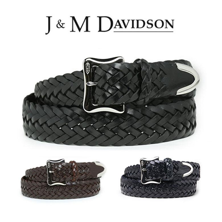 【楽天市場】【プレSALEポイント10倍】J&M DAVIDSON ベルト 30mm メッシュ レザー メンズ J&M...