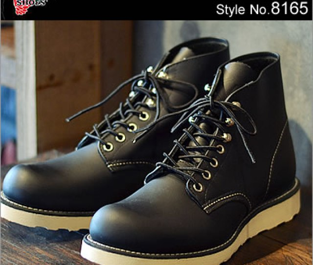 Red Wing Redwing Boots  Classic Work And  Inch Round To Rw  Classic Work  Round Toe Black Chrome Black Chrome