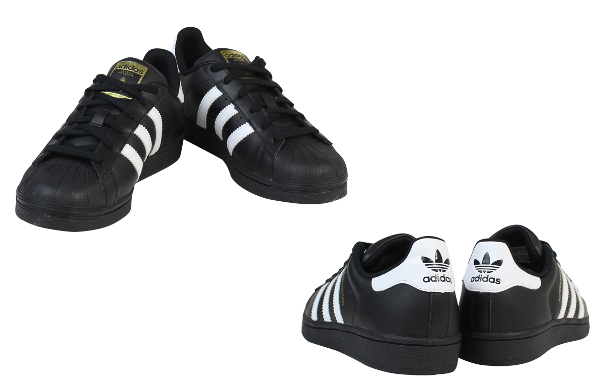 Whats up Sports: 小adidas Originals愛迪達原始物女士SUPERSTAR FOUNDATION J運動鞋大明星粉底B23642黑色 | 日本樂天市場