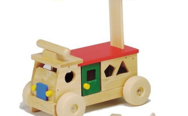 Woodpal Riding Toys Wooden Toys カラフルバス Made In Japan