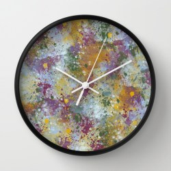 punched-up-pansies-clock