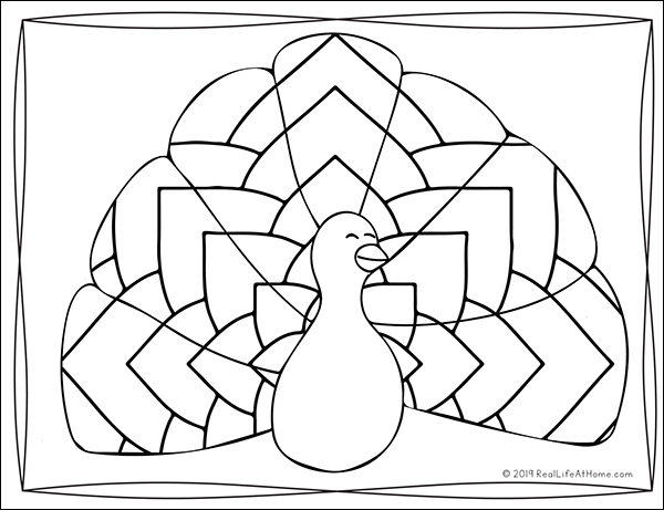 Printable Turkey Coloring Book for Kids and Adults