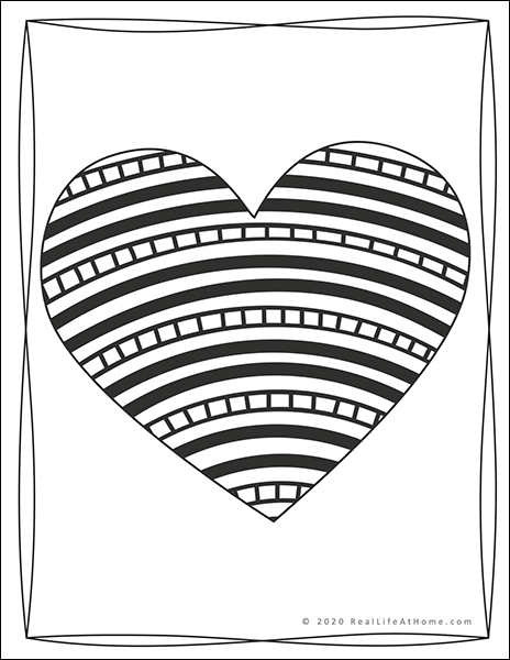 Printable Valentine Coloring Book for Kids and Adults