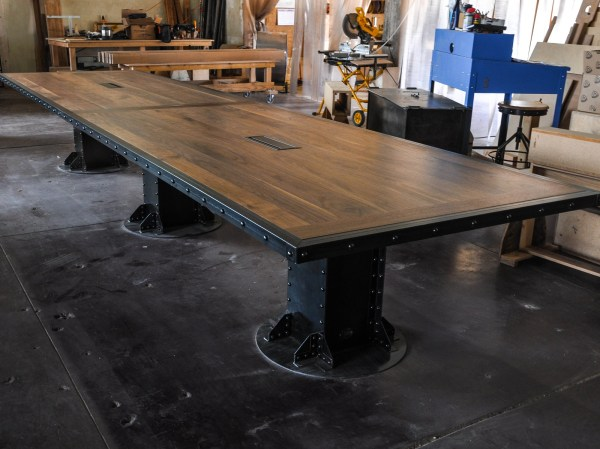 Vintage Industrial Conference Table