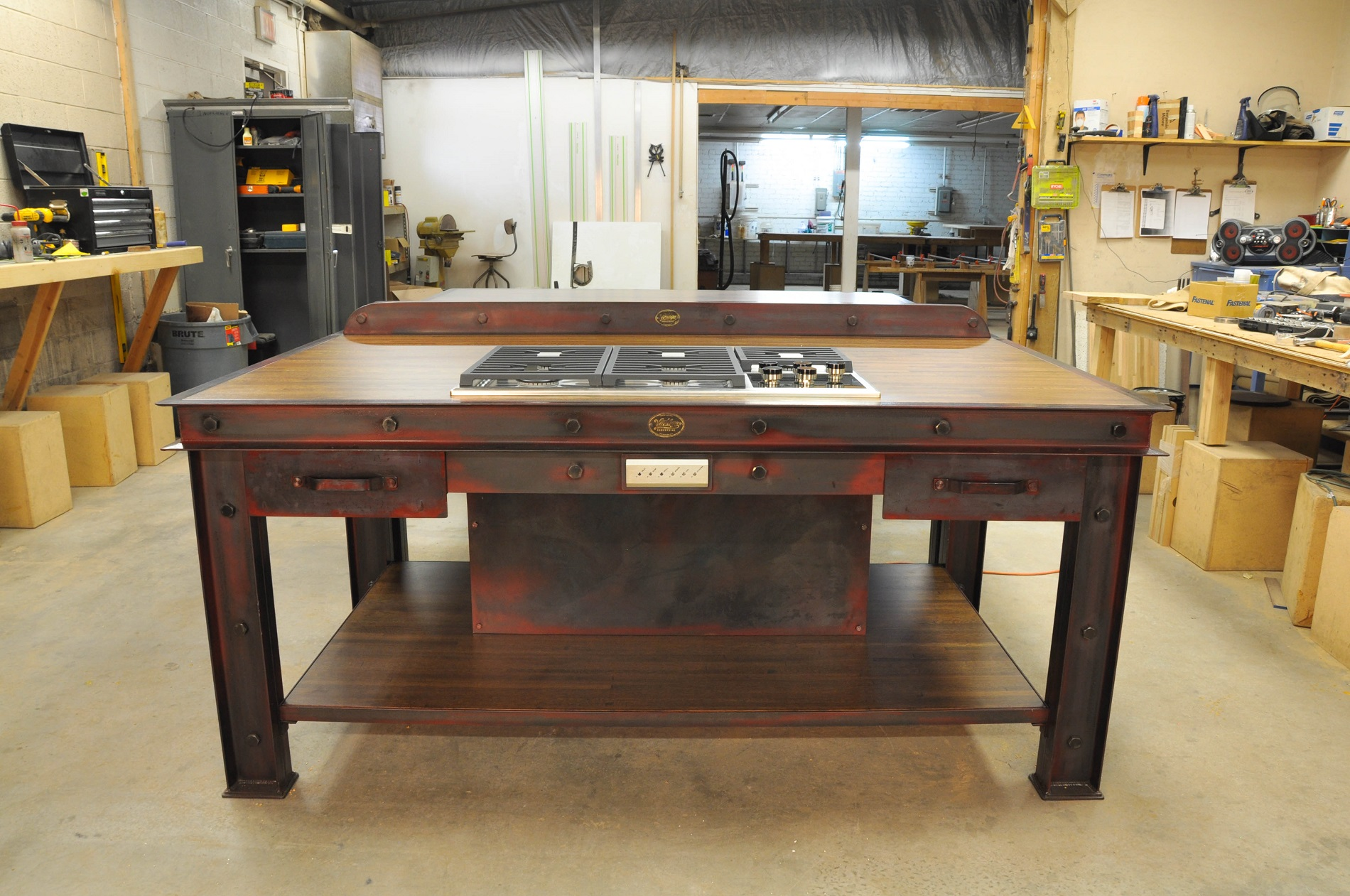 industrial kitchen island rustic sets vintage