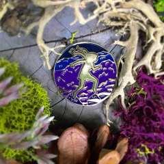Gold Enamel Pin - Serafina and the Splintered Heart