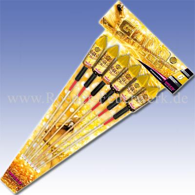 Feuerwerkskrper Goldrausch Raketensortiment RaketenundSortimente Raketensortimente