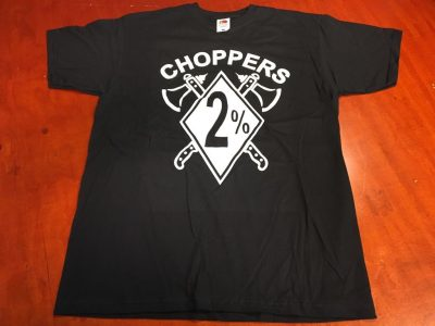 2% Choppers T-shirt with 2 axes