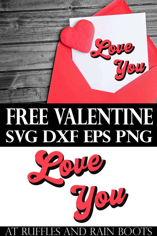 Download Free Retro Love You SVG for a Fun Bump Out Design