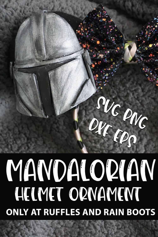 Mandalorian Helmet Silhouette : mandalorian, helmet, silhouette, Mandalorian, Helmet, Ornament, Pattern, Collection, Ruffles, Boots