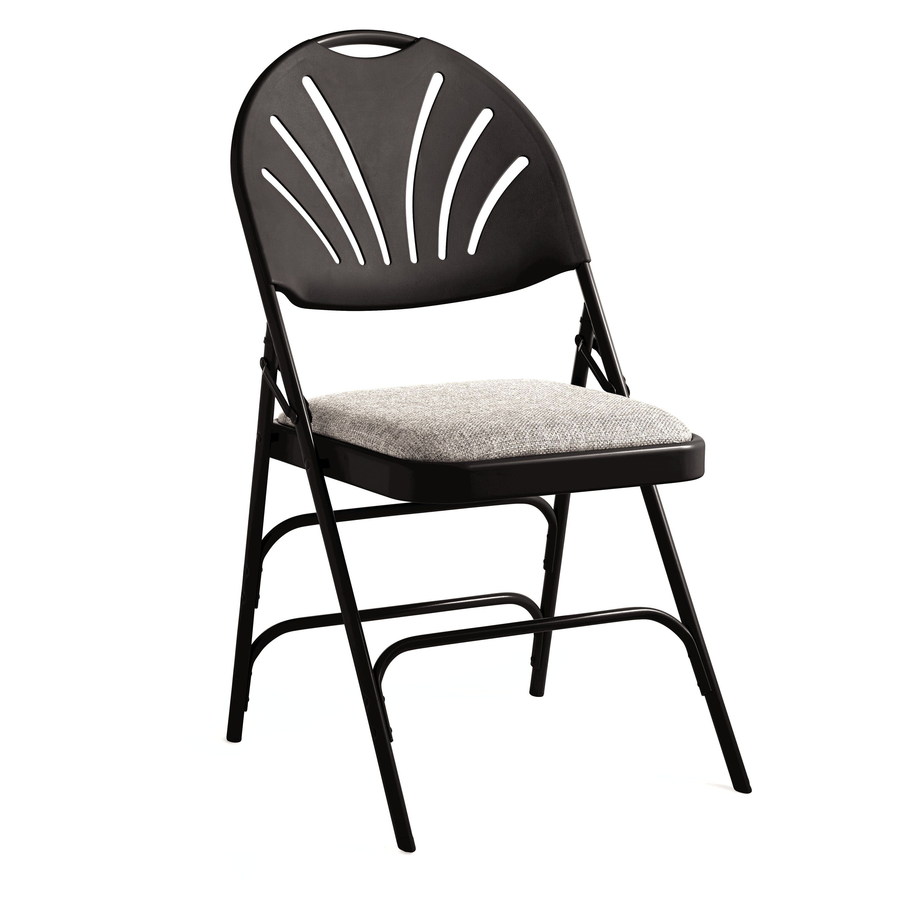 folding chair fabric cheap table and covers for parties samsonite xl fanback steel case 4
