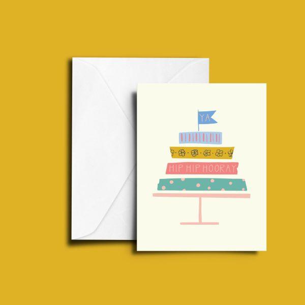 Washi Cake Greeting Card
