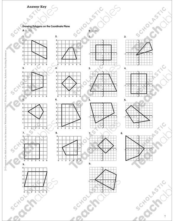 Drawing Polygons on the Coordinate Plane: Math Lesson by