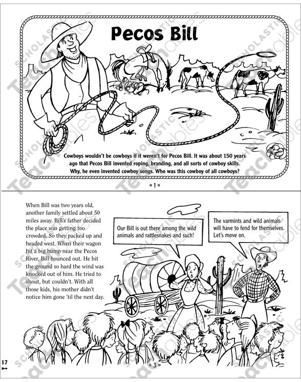 Pecos Bill: Tall Tale Mini-Book by