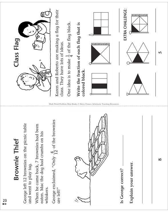 Math Word Problem Mini-Books by Betsy Franco