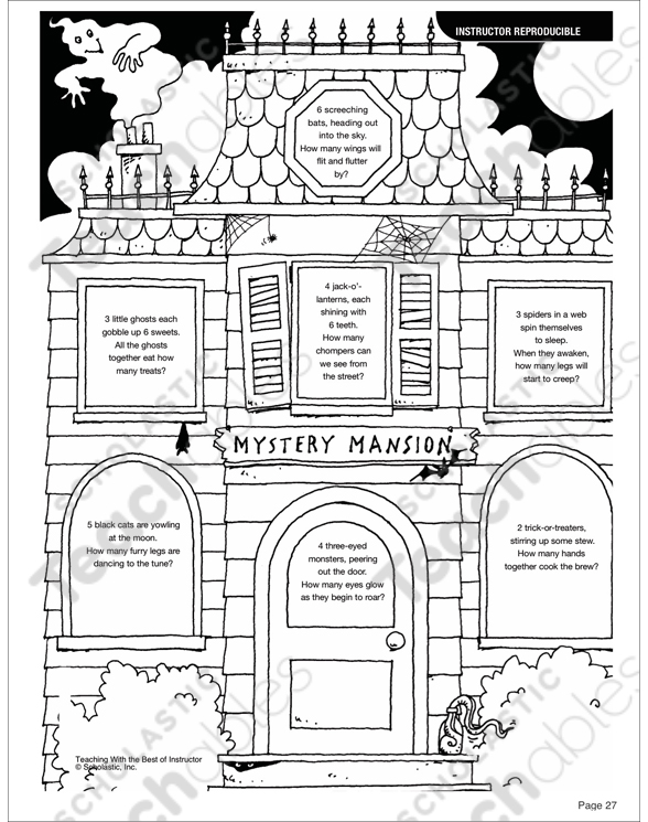 October Grades 3-4 Printable Packet by
