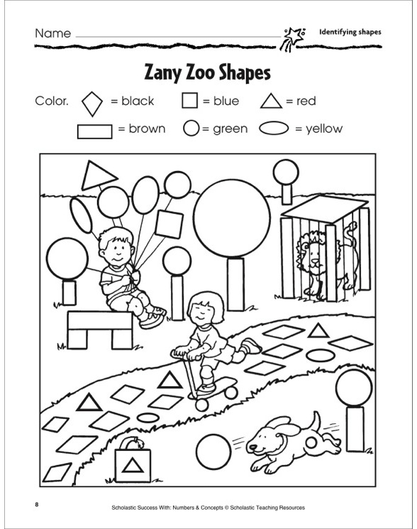 Zany Zoo Shapes (Identifying Shapes): Scholastic Success