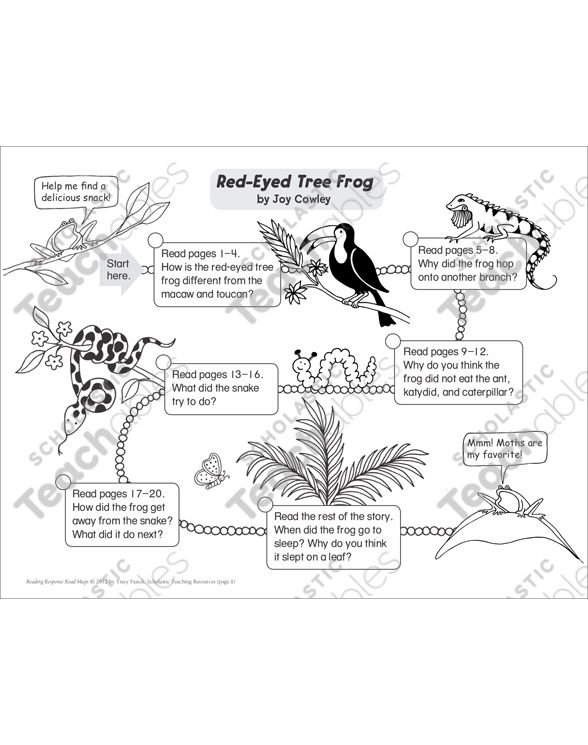 Red-Eyed Tree Frog by Joy Cowley: Reading Response Road Map by