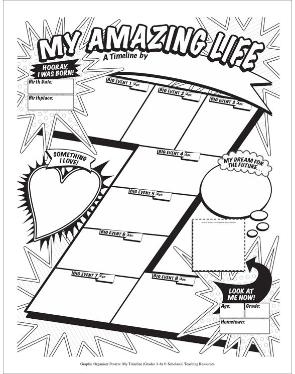Graphic Organizer Posters: My Timeline: Grades 3–6 by Liza