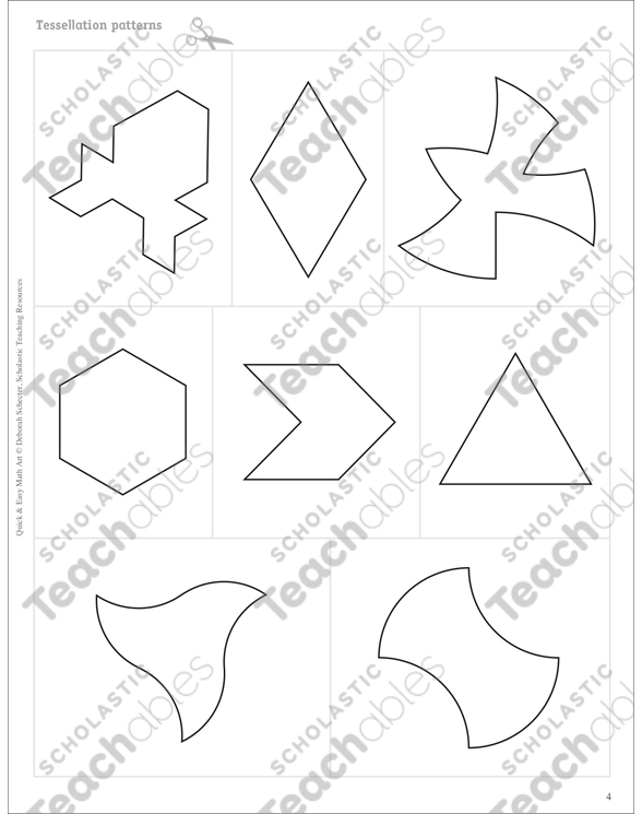 Tessellation Ties (Transformations/Patterns): Quick & Easy