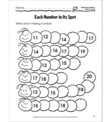 Each Number in Its Spot (Ordering Numbers from 11 to 20