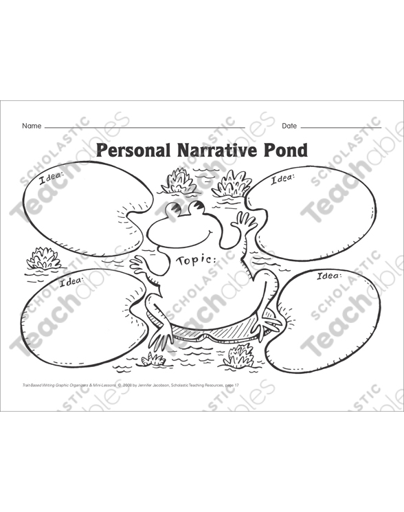 Personal Narrative Pond (ideas, organization, and voice