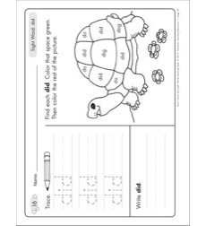 Sight Word (did): Sight Words Learning Mat by