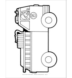 Fire Truck (B&W) Reproducible Pattern by