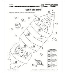 Out of This World (Subtracting 3-Digit Numbers With
