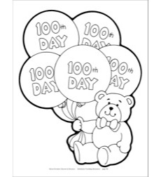 100th Day of School Bear Reproducible Pattern by