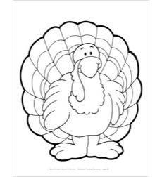 Turkey (B&W) Reproducible Pattern by