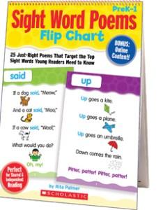 Sight word poems flip chart also by rita palmer rh shopholastic