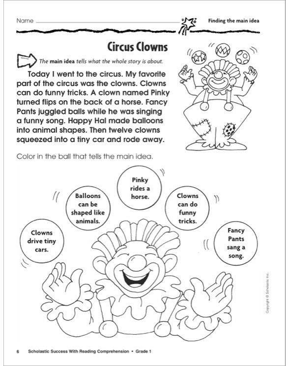 Scholastic Success With Reading Comprehension: Grade 1 by