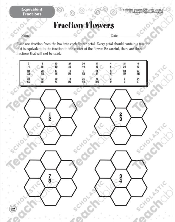 Fraction Flowers (Equivalent Fractions): Scholastic