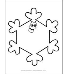 Snowflake 3 (B&W) Reproducible Pattern by