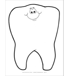 Tooth Caricature Reproducible Pattern by