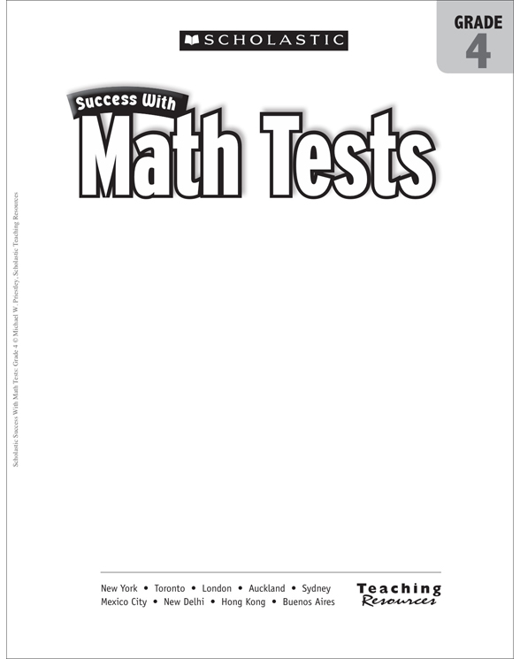 Scholastic Success With Math Tests: Grade 4 by