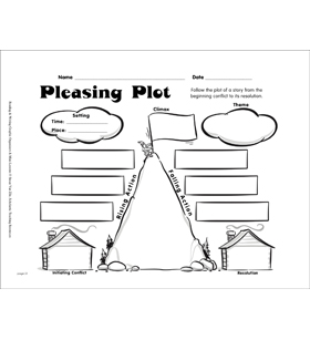 Reading Graphic Organizer: Pleasing Plot by